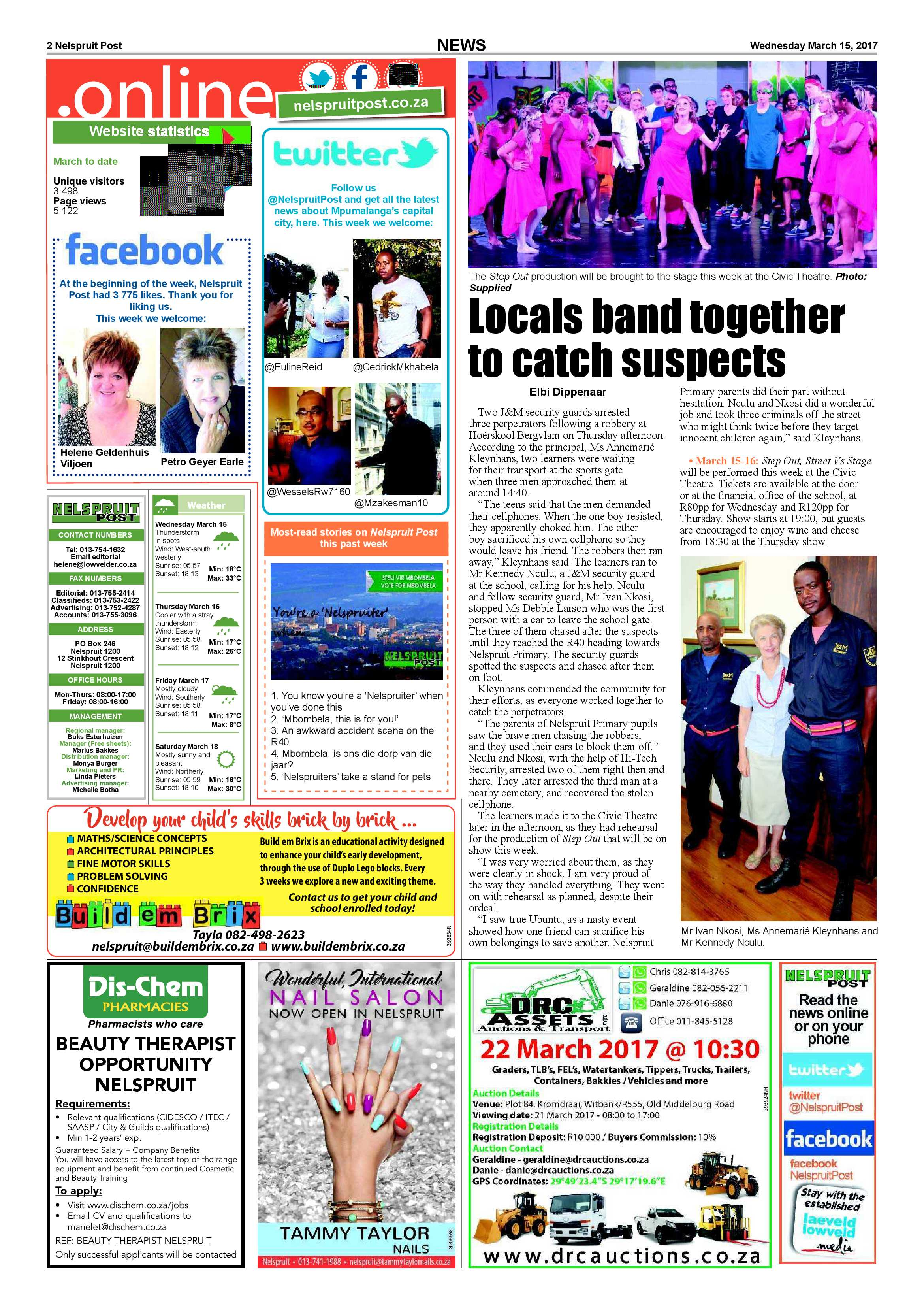 Posts for march page 7 - Nelspruit Post 15 March 2017 Epapers Page 2