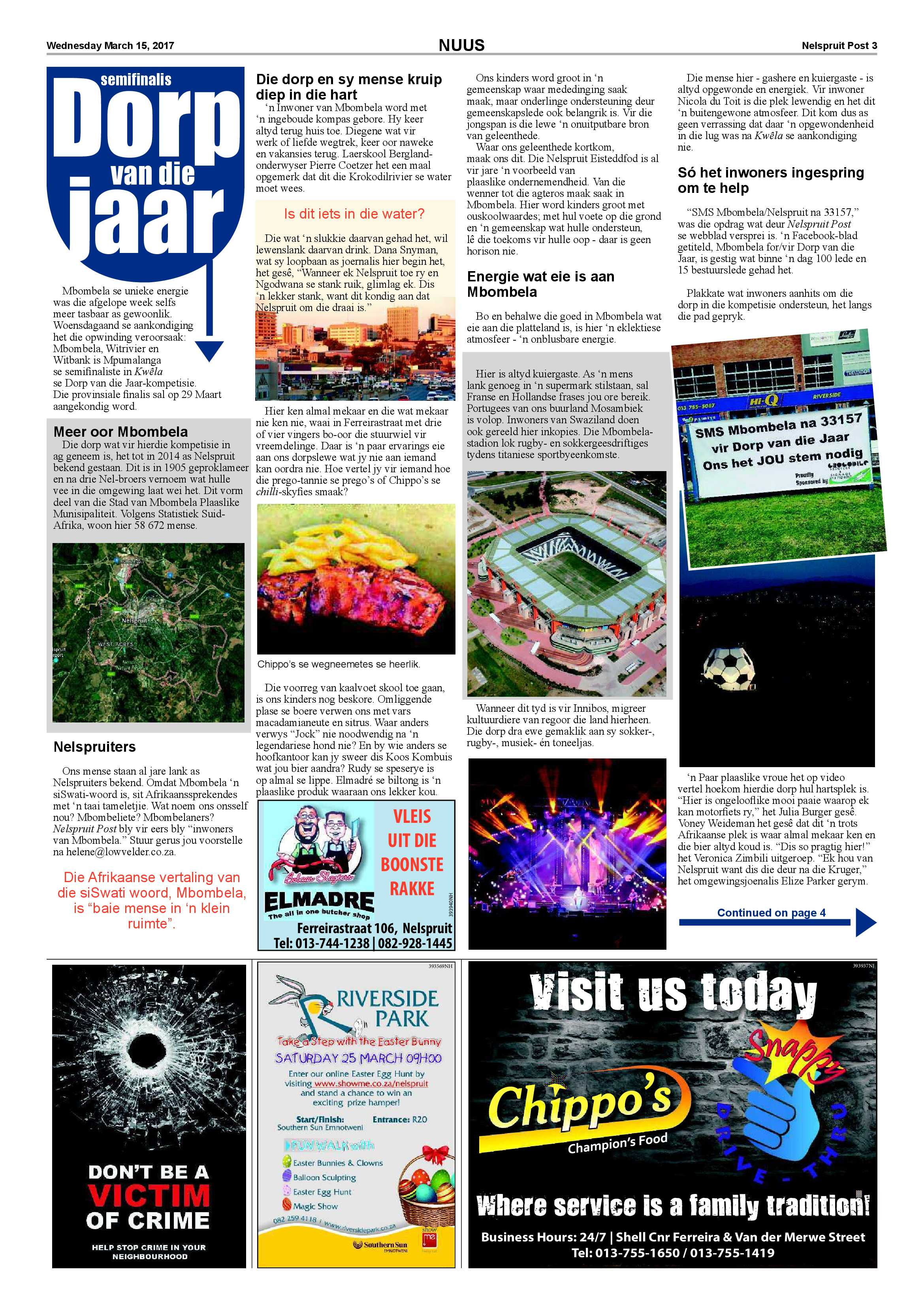 Posts for march page 7 - Nelspruit Post 15 March 2017 Epapers Page 3