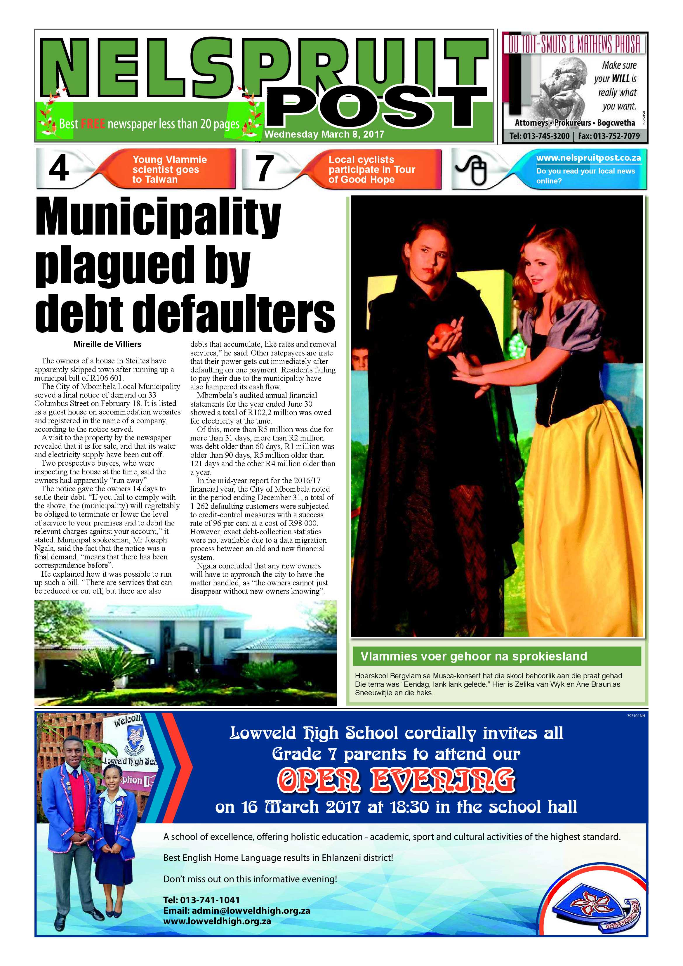 Posts for march page 7 - Nelspruit Post 8 March 2017 Epapers Page 1